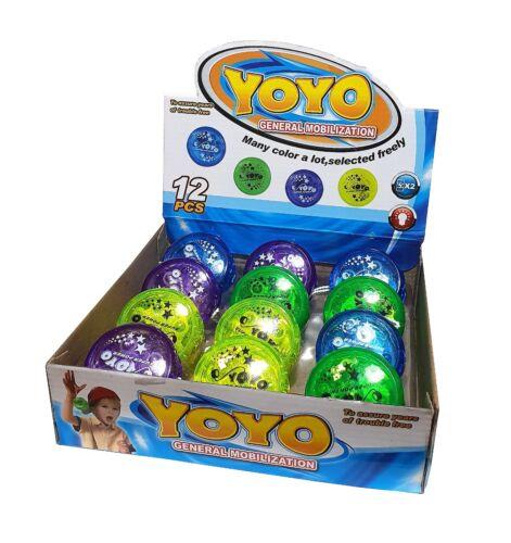 12 LED Kinder Licht Leucht Yoyo Jojo Yojo Yoyos Geburtstage Spielzeug Mitgebsel