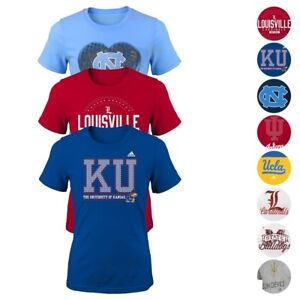 NCAA-Adidas-Various-Team-Color-Graphic-T-Shirt-Collection-Girls-Youth-SZ-S-XL