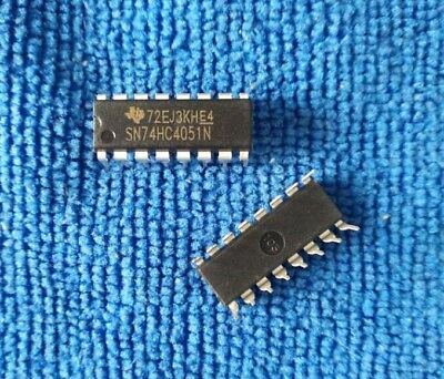 10PCS Nouveau SN74HC4051N 74HC4051 4051 IC DIP-16