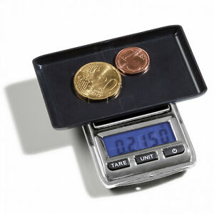 Digital-Coin-Pocket-Scale-0-01-100-g-Currency-Coin-Collection-LEUCHTTURM-344222