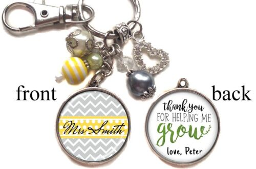 Teacher Appreciation 2 sides Personalized Teacher Keychain Double-Sided