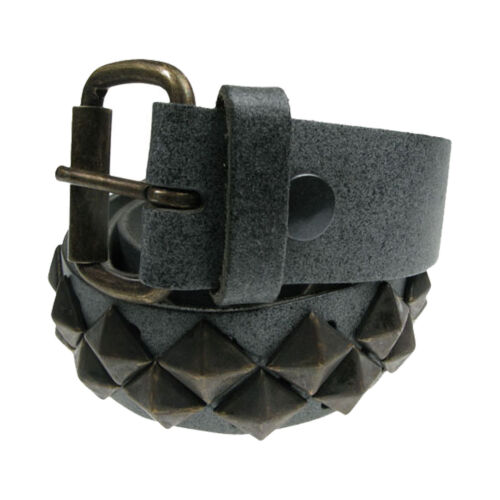 """38mm Diagonal Pyramid Design Real Leather Handmade Belt In England Sizes 28/""""-44/"""""""