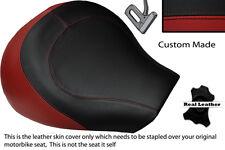 DARK RED & BLACK CUSTOM FITS SUZUKI INTRUDER VL 1500 98-04 FRONT SEAT COVER