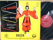 DECCA ffrr UK Gilbert & Sullivan MIKADO D'Oyly Carte RECORD 2 LK-4011
