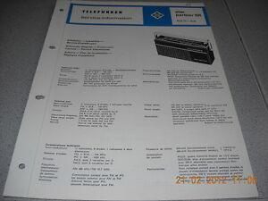 TELEFUNKEN Kofferradio star partner 101 Service Manual