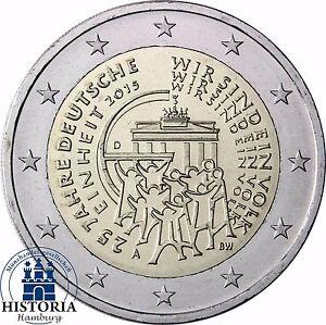 2-Euro-25-Jahre-Deutsche-Einheit-Deutschland-2015-Stempelglanz-Mzz-A