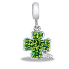 Davinci Beads Dangle Charm - Shamrock Clover - Buy 2 or More DaVinci and Save!