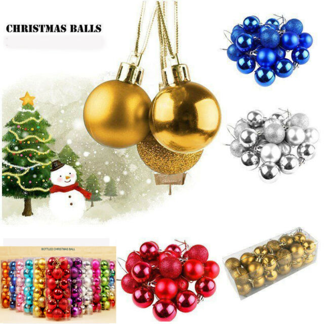 8 x 5cm CHRISTMAS Tree Pink Blue BAUBLE Decorations Purple