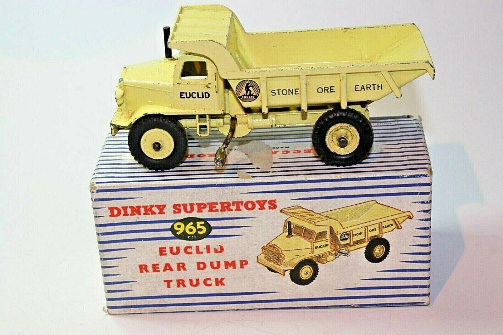 Dinky 965 Euclid Trasero Camión, Buen Estado En Caja Original Buenas