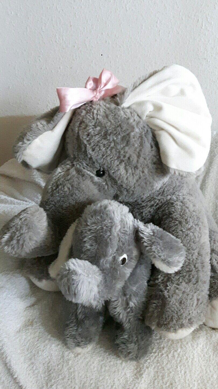Stofftier Plüschtier Elefant 50 cm mit Babyelefant