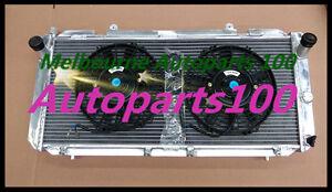 For-Toyota-Radiator-Fans-MR2-SW20-3SGTE-MT-1990-1997-92-94-96-95-2-Row-Aluminum