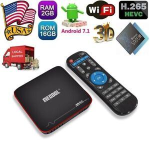 MECOOL M8S PRO W Android 7.1 Quad Core TV BOX 2GB//16GB 2.4G WiFi 4K HD-MI Media
