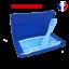 miniature 1 - Boite-de-rangement-et-attache-bleue-pour-masque