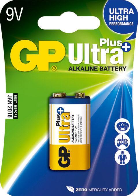 1 X Ultra Plus Alkaline Battery 9v, E