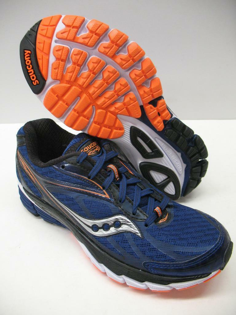 New Saucony Ride 8 Performance Running Training Chaussures Bleu Orange Boys Homme