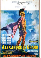 ALEXANDER THE GREAT Belgian movie poster 14x22 RICHARD BURTON 1956 rare
