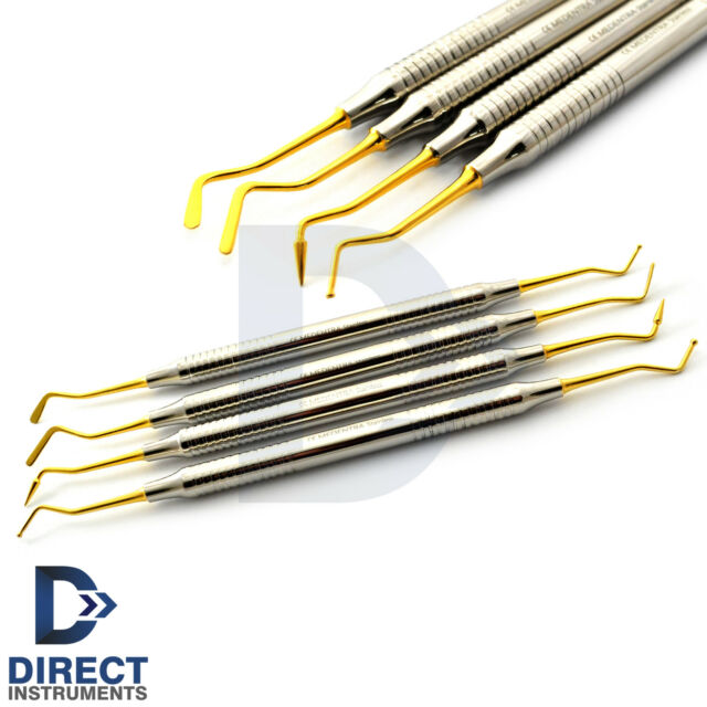 Dental Light Weight Titanium Coated Restorative Composite Filling Instruments CE