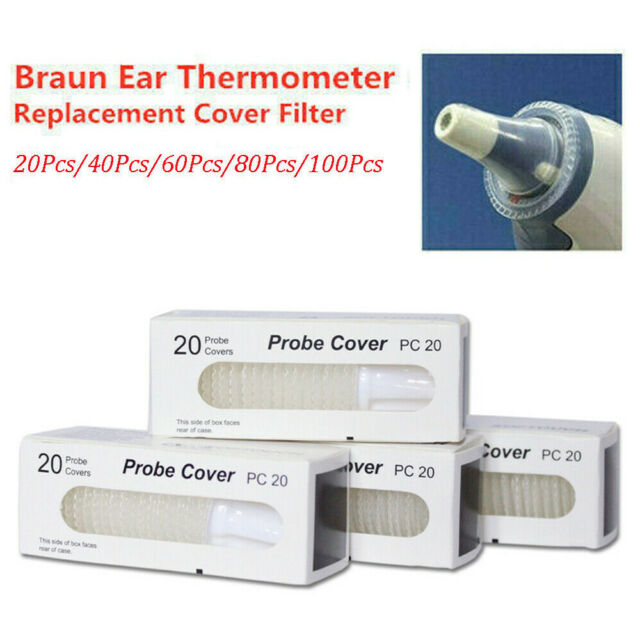 60pcs/Box Ear Thermometer for Braun Thermoscan Replacement Lens ...