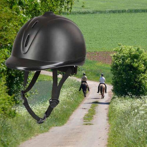 Reithelm econimo schw Kerbl ajustable reitkappe sicherheitsreithelm pferdo 24
