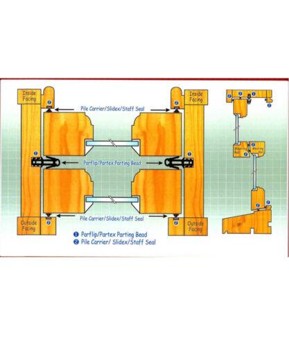 Centre Leg Carrier White c//w 6.5mm weatherpile 2.1m