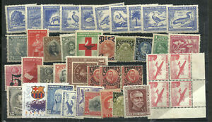 CHILE-LOT-40-STAMPS-MINT-UNUSED-VERY-NICE