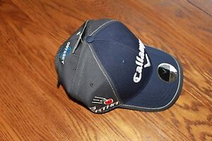 Callaway-Tour-Authentic-Odyssey-Golf-Hat-Dark-Blue-Charcoal-with-white-logos