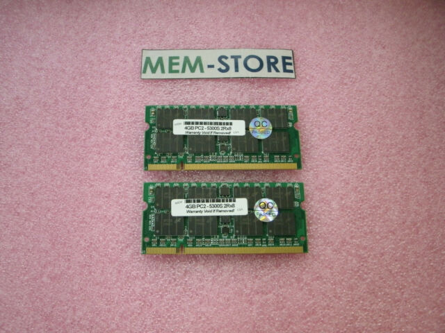 8GB 2x4GB PC2-5300 DDR2-667 SODIMM Memory Apple MacBook