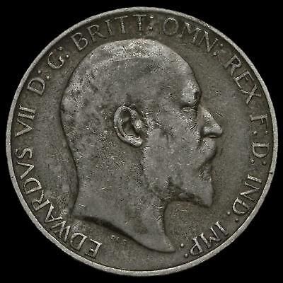 1904 Edward VII Silver Florin, GF / Fine