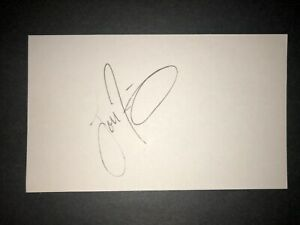 1993 EXPOS: Lou Frazier, SIGNED 3x5 Card