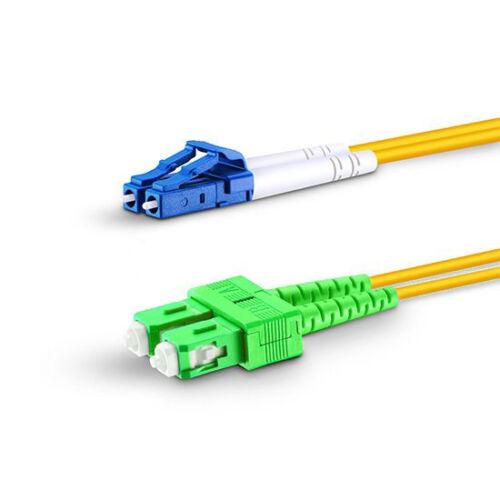 7m LC UPC to SC APC Duplex 2.0mm OFNR 9//125 Single Mode Fiber Patch Cable 23ft