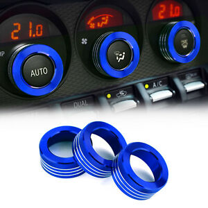 Air Conditioner Switch Knob Ring AC Knobs Cover Fits For Subaru BRZ Toyota 86 BL