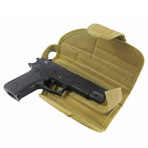 Tactical-MOLLE-Vertical-Belt-Mount-Handgun-Holster-Universal-Pistol-Holster-Tan