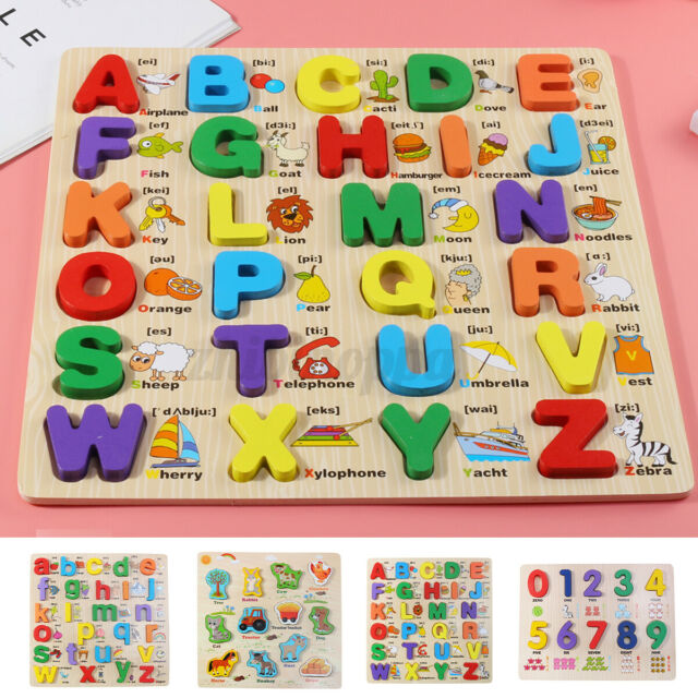 Early Learning Toy Alphabet Number Puzzle Preschool For ...