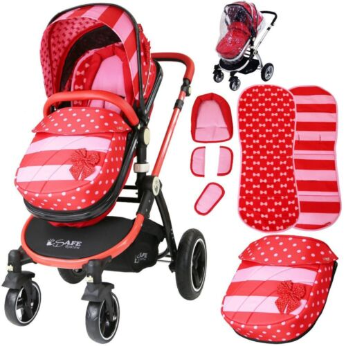 Bow Dots Design iSafe Baby Pram System 2in1