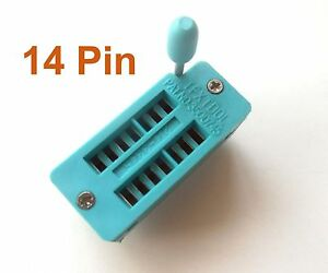 10pcs 14pin 14 Pin 2.54mm IC Test Universal ZIF Socket