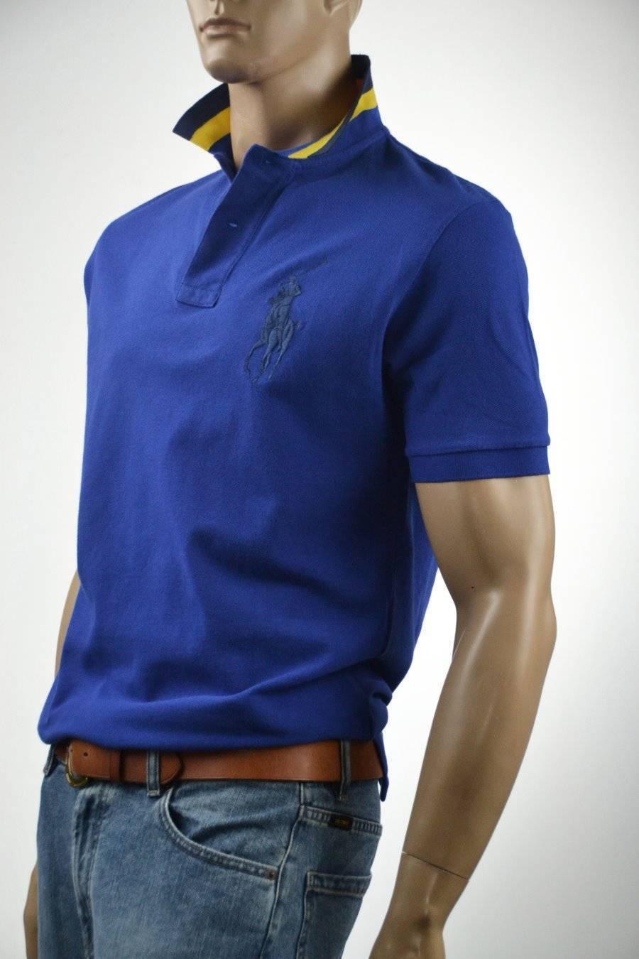Ralph Lauren Royal bluee Mesh Polo Shirt Big Navy bluee Pony-Medium- NWT