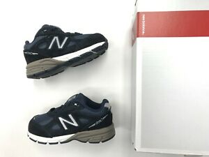 Kids New Balance 990v4 Navy Blue suede