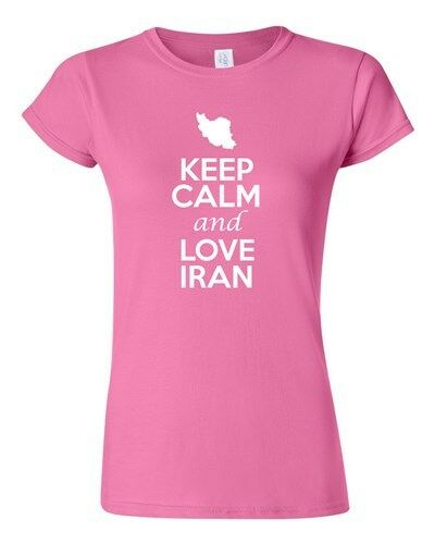 Junior Keep Calm And Love Iran Country Nation Patriotic Novelty T-Shirt Tee