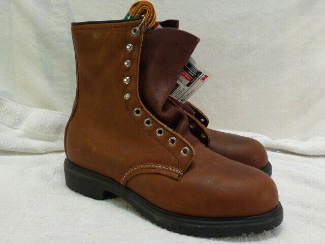 De Colección Para Hombre Rojo Wing aislado Cuero Puntera De Acero botas De Trabajo 7 D nuevo 4412