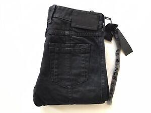 Diesel Black Gold Women's Perkuno Trousers Black Coated Jeans Ankle Zip W25