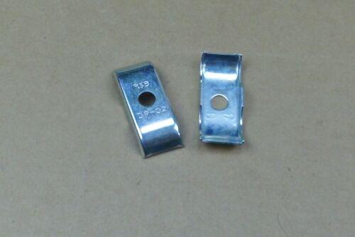 1 ACCIAIO ZINCATO aria compressa-Mess-regola tecnica PIASTRE deck doppio tubo morsetto MIS