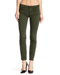 Shya Jeans Size 29 Crop Skinny genetici Olive donna Stretch da Green Slim Moss rwrq8P7