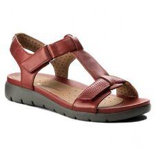 Ladies Clarks Unstructured Sandals Un Vaze Pewter Metallic Leather