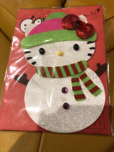 Papyrus brand Beautiful Snowman Hello Kitty   Blank Cards