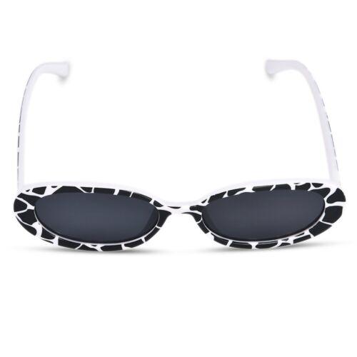 Retro Clout Goggles Unisex Sunglasses Rapper Oval Shades Grunge Glasses