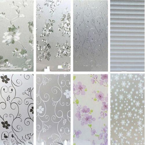 45cmx2m Pvc Frosted Privacy Frost Bedroom Bathroom Glass Window Film Sticker Ebay
