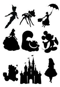 Disney Silhouette Edible Icing Decor For Cakes Ebay