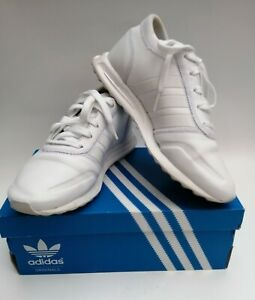 desierto falso oler  Adidas Originals Los Angeles Leather trainers white AQ2592 UK4.5 EU37 VGC |  eBay