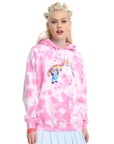 Lisa Frank for Hot Topic Tie Dye 90's Rainbow Hoodie Sweatshirt NWT sizes XS-3X
