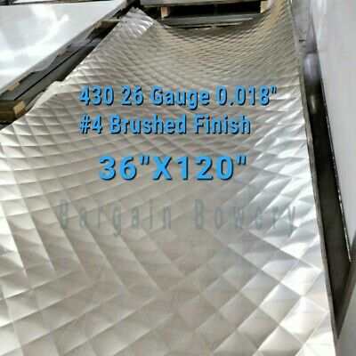 """Food Truck /& Restaurant Wall Covering Stainless Steel 26 Ga 3/' X 10/' 4/"""" Quilt"""